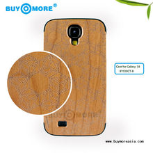 Fashion wood bamboo hard back hand made phone case for samsung galaxy s4 s6