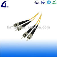 ST ST singlemode duplex Corning Fiber Optic patch cable, PC, UPC and APC polishing available