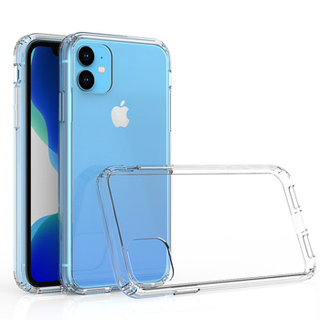 Clear Hard Back Acrylic Hybrid TPU Bumper Phone Cover Case For iPhone 11 2019 6.1 INCH
