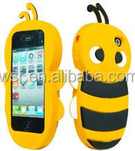 Animal silicone case/Bee 3D silicone case for mobile phone