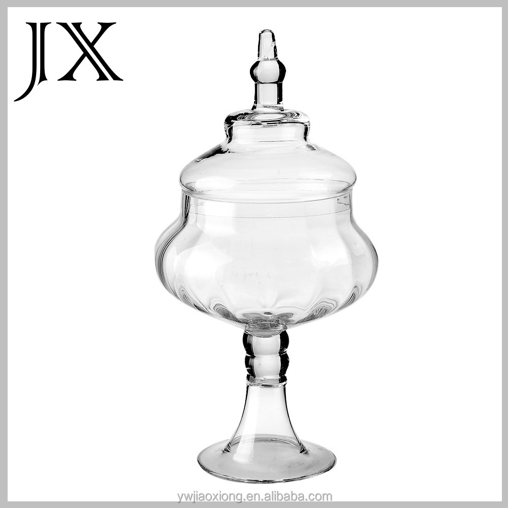gros bocal de bonbons en verre avec couvercle pour douce buffet d coration de mariage. Black Bedroom Furniture Sets. Home Design Ideas