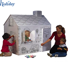 Corrugated Cardboard Wholesale Children Folding Paper House