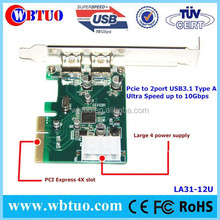 USB 3.1 10Gbps spped Pci express Controller