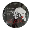 Glass dome cover Marilyn Monroe design wall clock for room