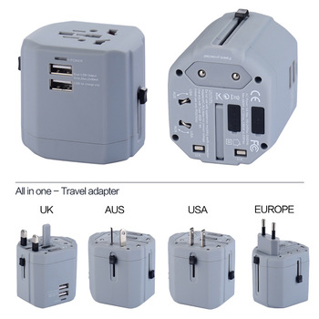 International Travel Protable Universal World USB Travel Charger Adapter with fused