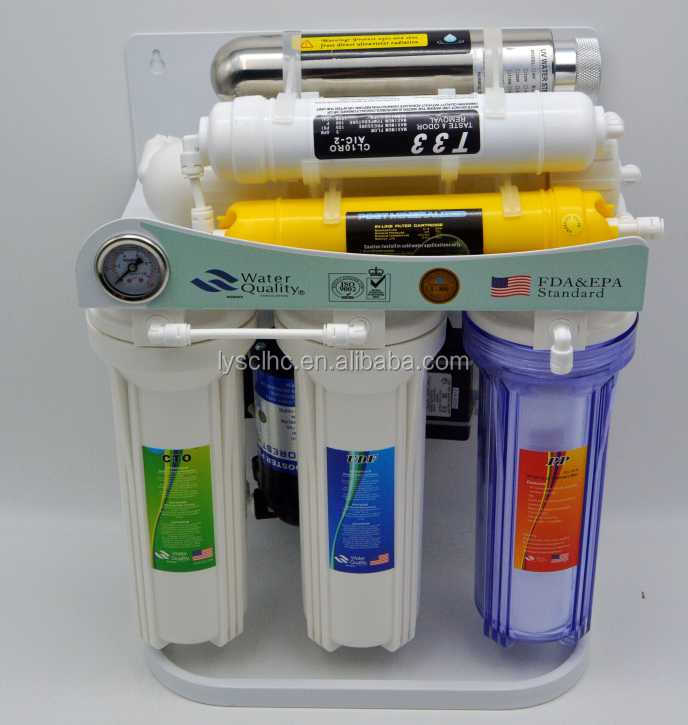 7 stage reverse osmosis ro-50g/home water puriifers