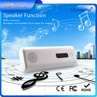 Best quality 4400mah bluetooth speaker power bank with English player for all over the world
