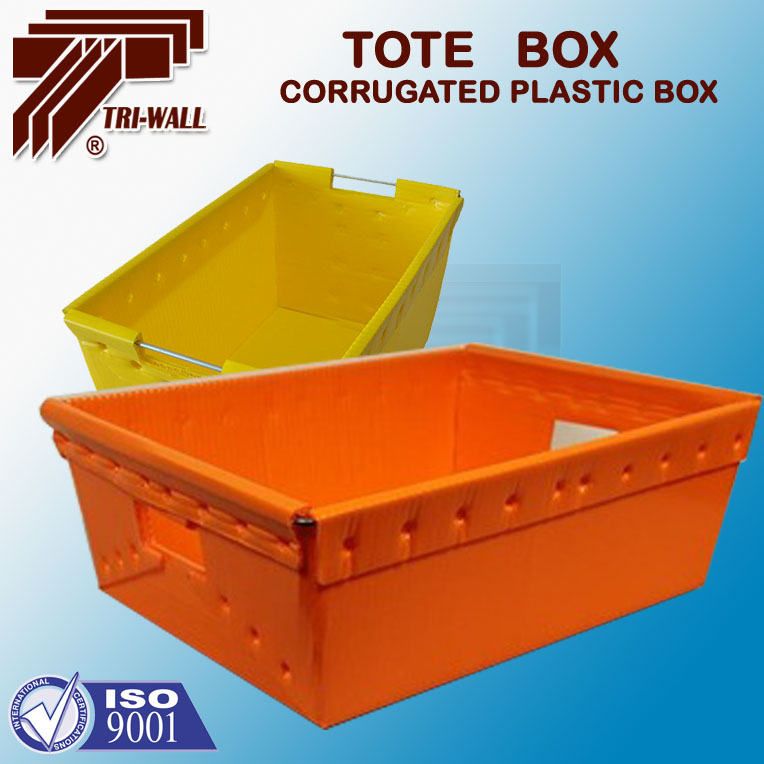 Wire Frame Polypropylene Plastic PP Corflute Tote box