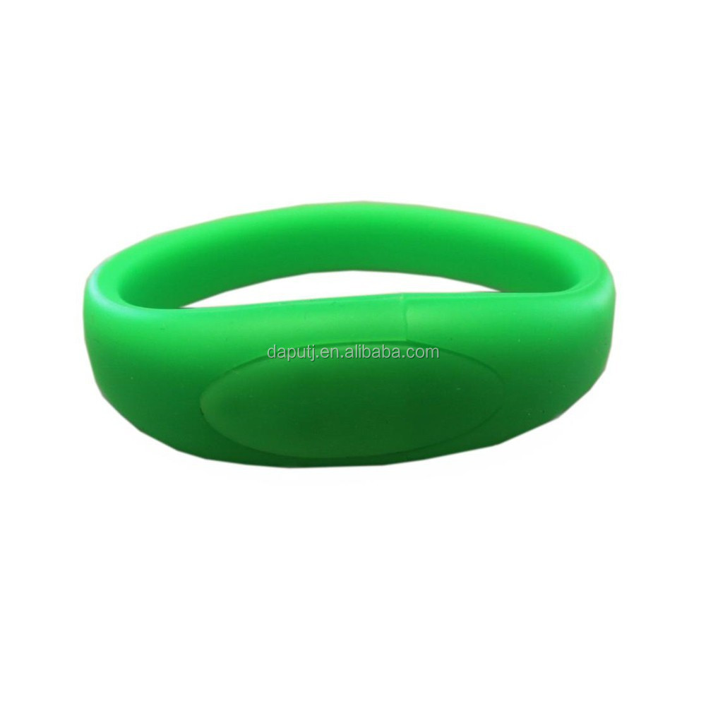 promotional silicone bracelet usb flash drive low price