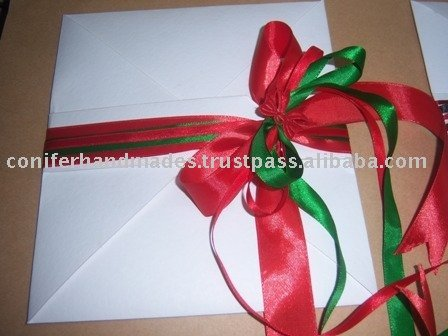 Handmade Paper Fancy Envelopes with Ribbons