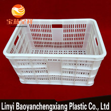 blue color collapseable plastic storage basket accept custom order