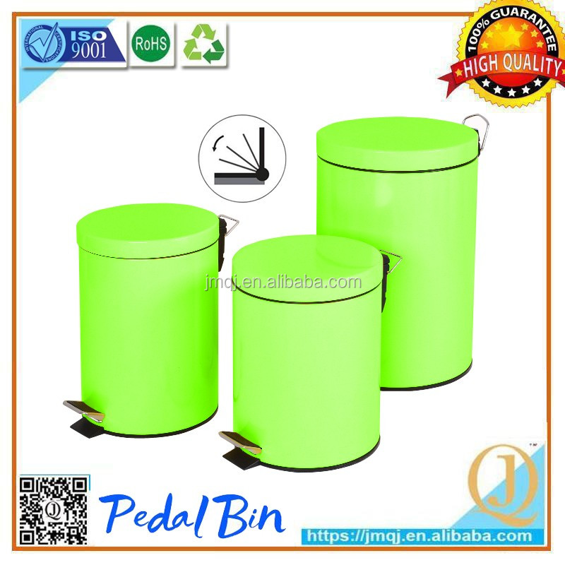 3l hot selling green fashion painting handmade hotel room types of garbage waste bin