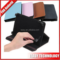 "Stand Flip Leather 7"" android tablet cases with back camera hole"