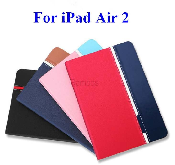 Mix color leather case with card slot Custom printed case for iPad air 2