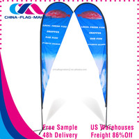 full sublimation banner material aluminium flagpole wing flag and banner gift