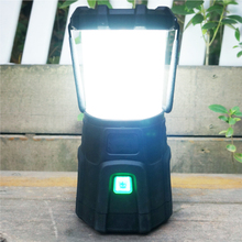Rechargeable battery Li-ion pack Rubberize handle Extreme bright weather resistance runtime phone charger LED camp lantern