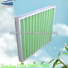 Air conditioning air intake pleated panel air filters