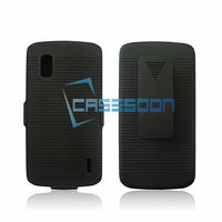 Combo Case foLG E960 Google Nexus 4,Holster Clip Belt Combo Case For LG E960 Google Nexus 4