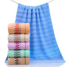 100 Cotton Cabana Stripe Rally Blue Beach Bath Scrub Towels