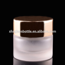 wholesale mini 5g cosmetic frosted cream glass jar