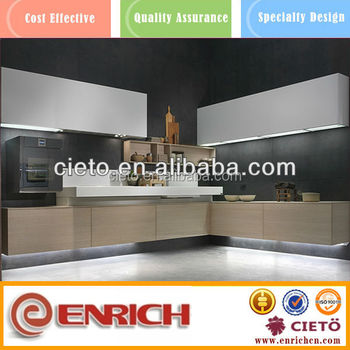 Contemporary Melamine Kitchen Cabinets Door In Guangzhou Furniture ...