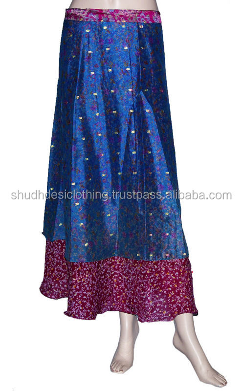 Ladies Gypsy Wraparound Silk Long Skirt in Jaipur