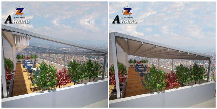 2018 New food grade modern pergola balcony patio awning with good price