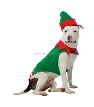 Loveable Christmas Elf Green Costume Dog Clothes Coat Pet Jacket With Hat