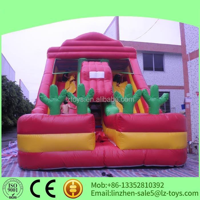 double lanes inflatable slides