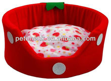 Round Sofa Strawberry Pet Bed