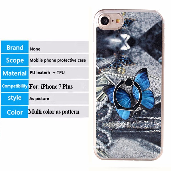 Wholesale 99 Cent Store Items Metal Ring Stand Hard Pc Cell Phone Case For IPhone 7