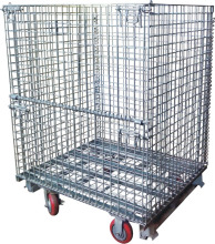 Heavy duty industrial foldable steel welded China wire mesh cage