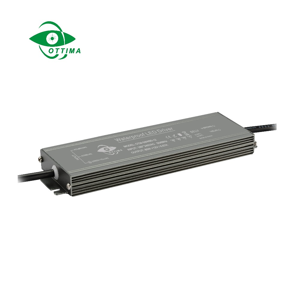 LED ultra-thin Outdoor led power supply 80W Waterproof driver for Strip Lights