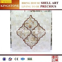 2015 factory price white round mother of pearl shell mosaic tiles on sale