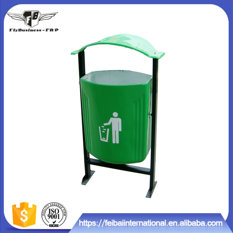 Factory supply no rupture under the sun frp outdoor rubbish bin