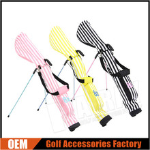 China wholesale Classic Stripes Golf Club Sunday Bags Golf Lightweitht Stand Bag