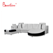 Exclusive Design Modern Sofa U Shape Big Corner Leather Sofa