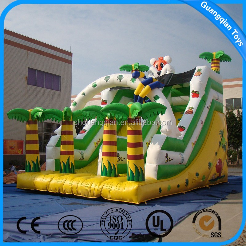 Guangqian Inflatable Forest Slip And Slide Playground For Kids And Adults