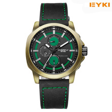 2016 new models hot salse PU brand quartz man watches