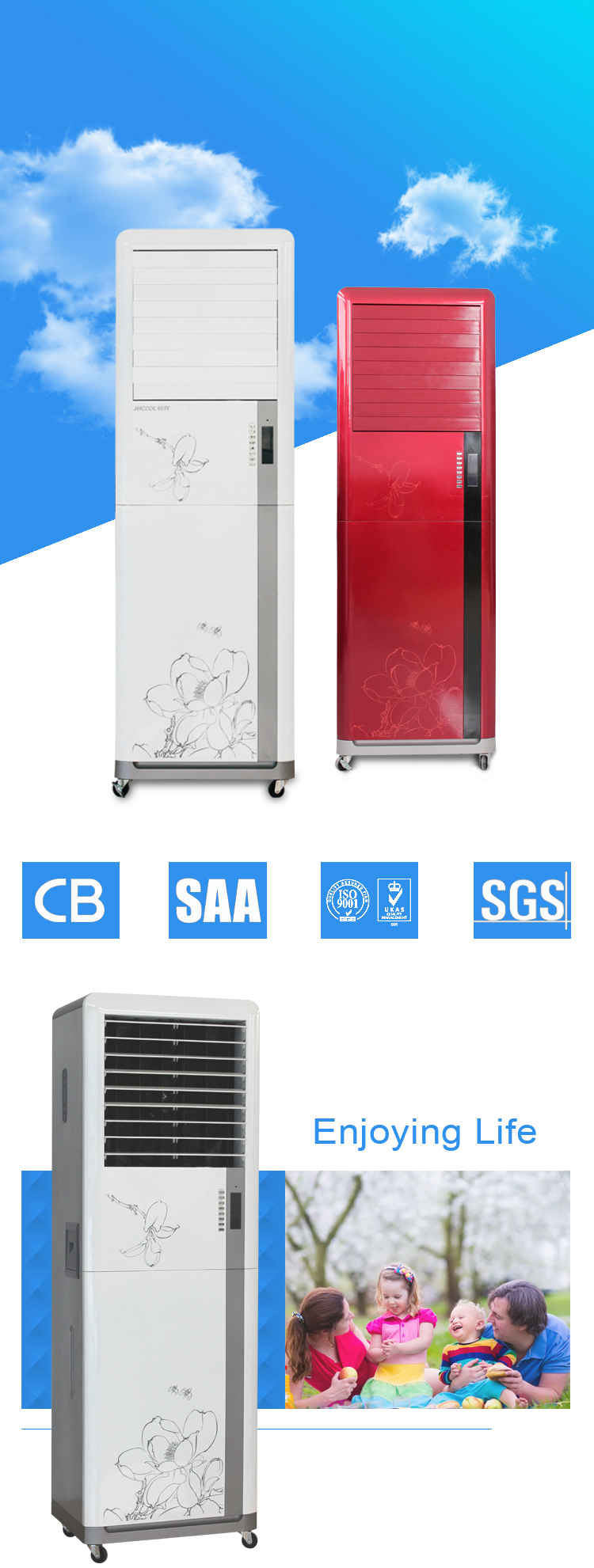 CE CB ISO certificate portable movable mini air conditioner