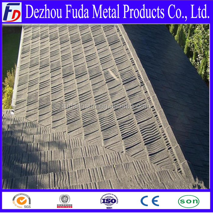supply Africa market shake/wood design stone coated steel roof tiles