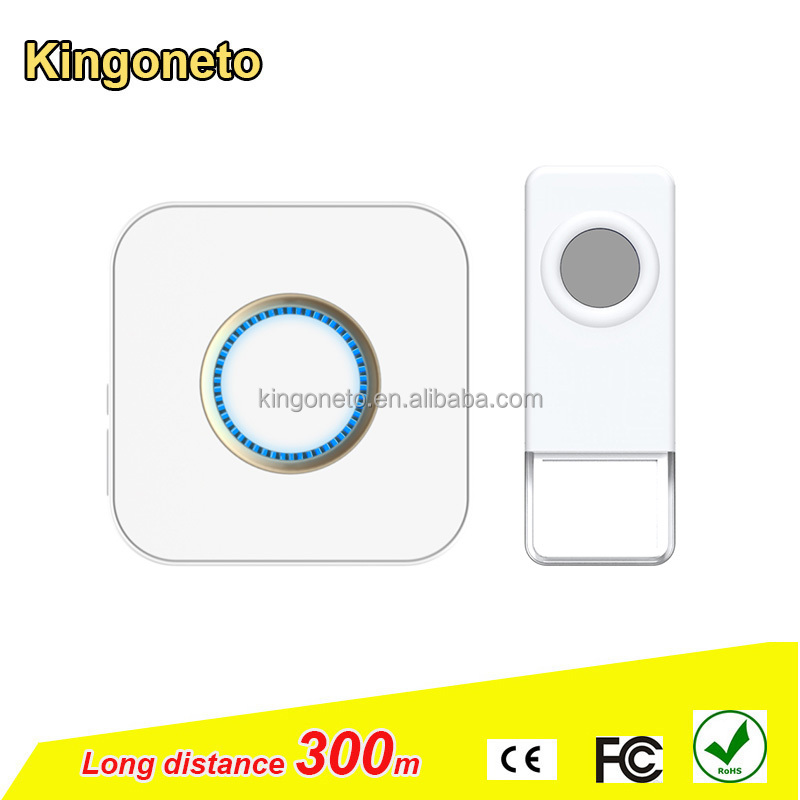 Kingoneto B8 wireless doorbell with screws set up to 300 m working range fashionable cosmetic design 52 classic melodies