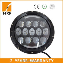 "Hot 4d 75W 12v 24v high low beam round 4x4 led headlight for motorcycle 7"" led headlight jeep wrangler"