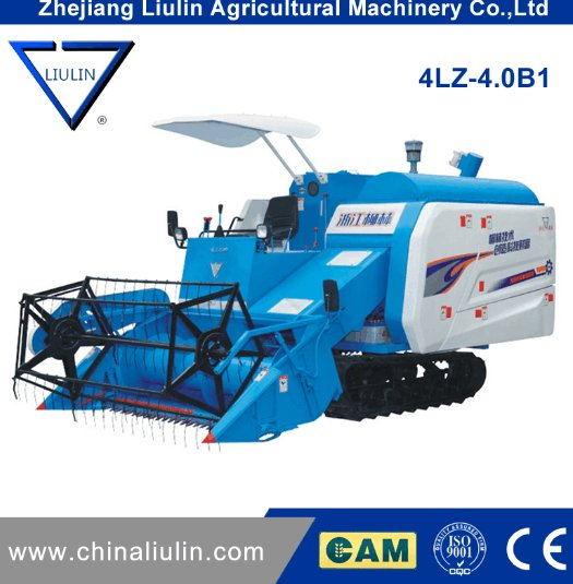 4LZ-2.0B of combine harvester with rubber track in high quality in agri machinery machine manufacturers