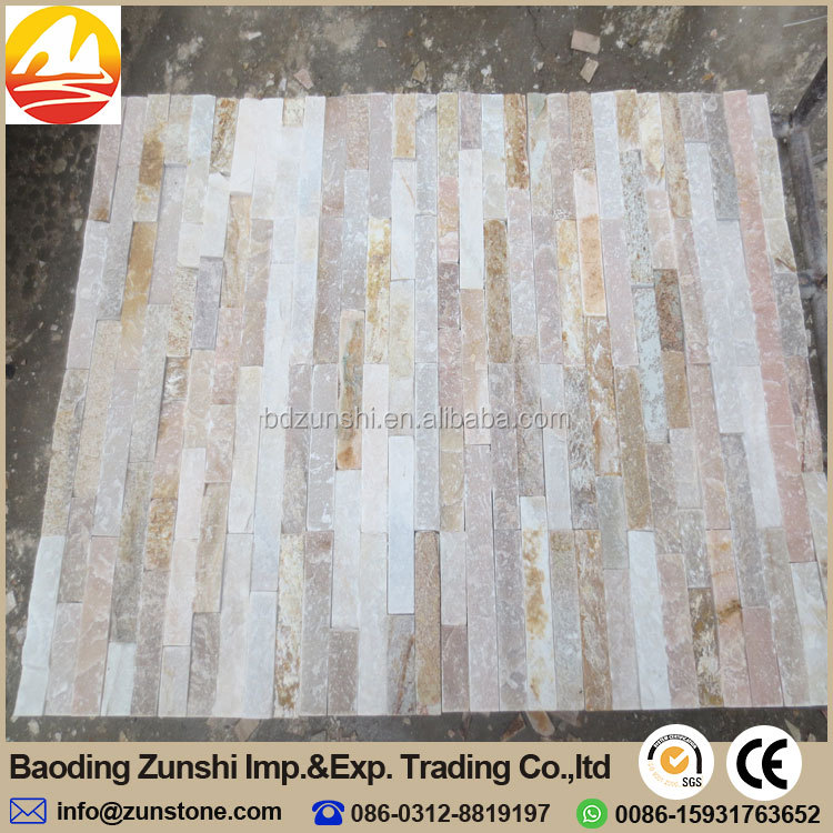 Natural Beige Slate Exterior Wall Stone Tile With CE Certificate