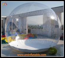 transparent inflatable snow ball , inflatable bubble ball for events
