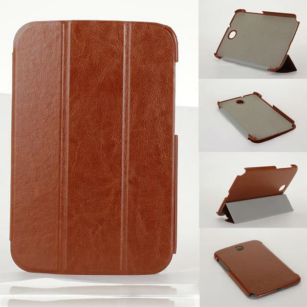 Horse skin three folded stand for samsung galaxy note 8.0/ n5100 leather case
