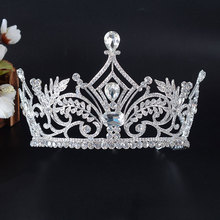 HG896 wholesale pageant crowns tiara real diamond crowns and tiaras beauty queen crowns
