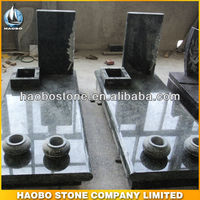 granite Italian monument with vases