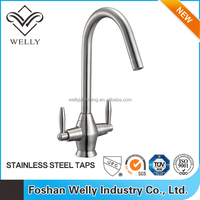 High Quality Brass Double Handle Water Faucet Design For Kitchen Accessories